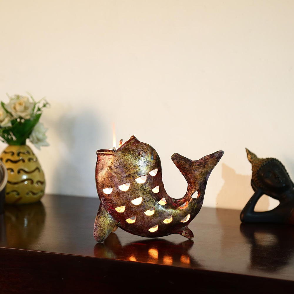 Fish Tea light candle holder